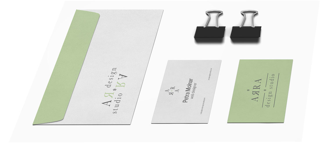 ARRA design studio stationery design
