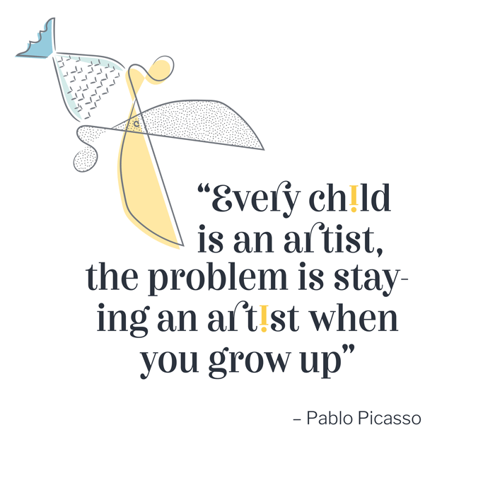 Pablo Picasso's quote on artists