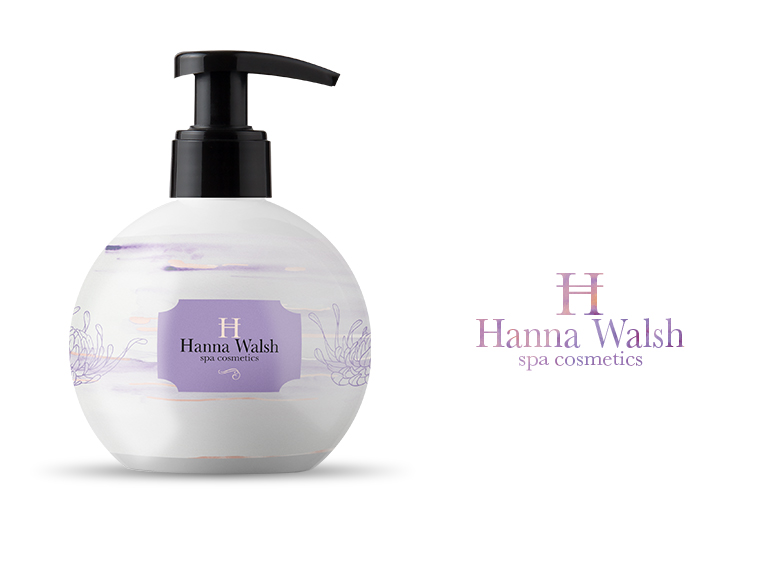 Logo and Branding concept for Hanna Walsh cosmetics
