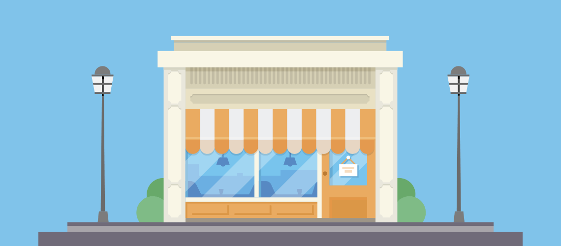 small business bodega shop illustration