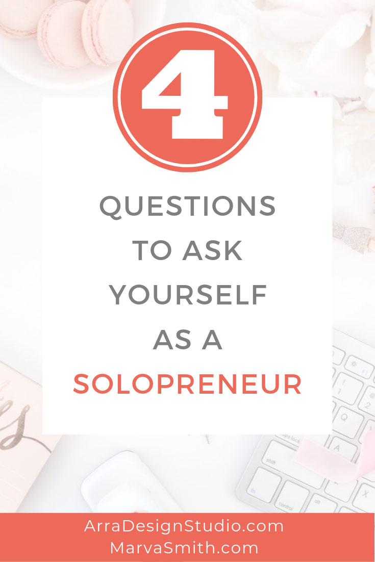 promotional graphic for blog post 4 questions to ask yourself as a solopreneur