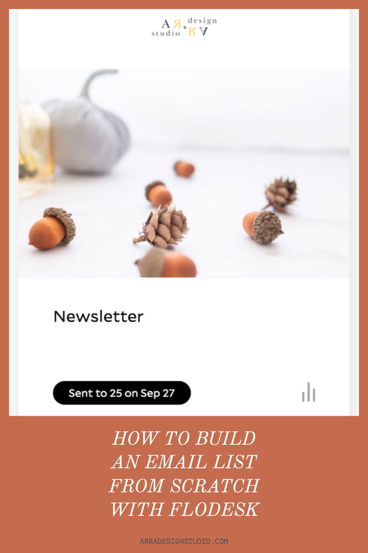 how to build an email list with flodesk