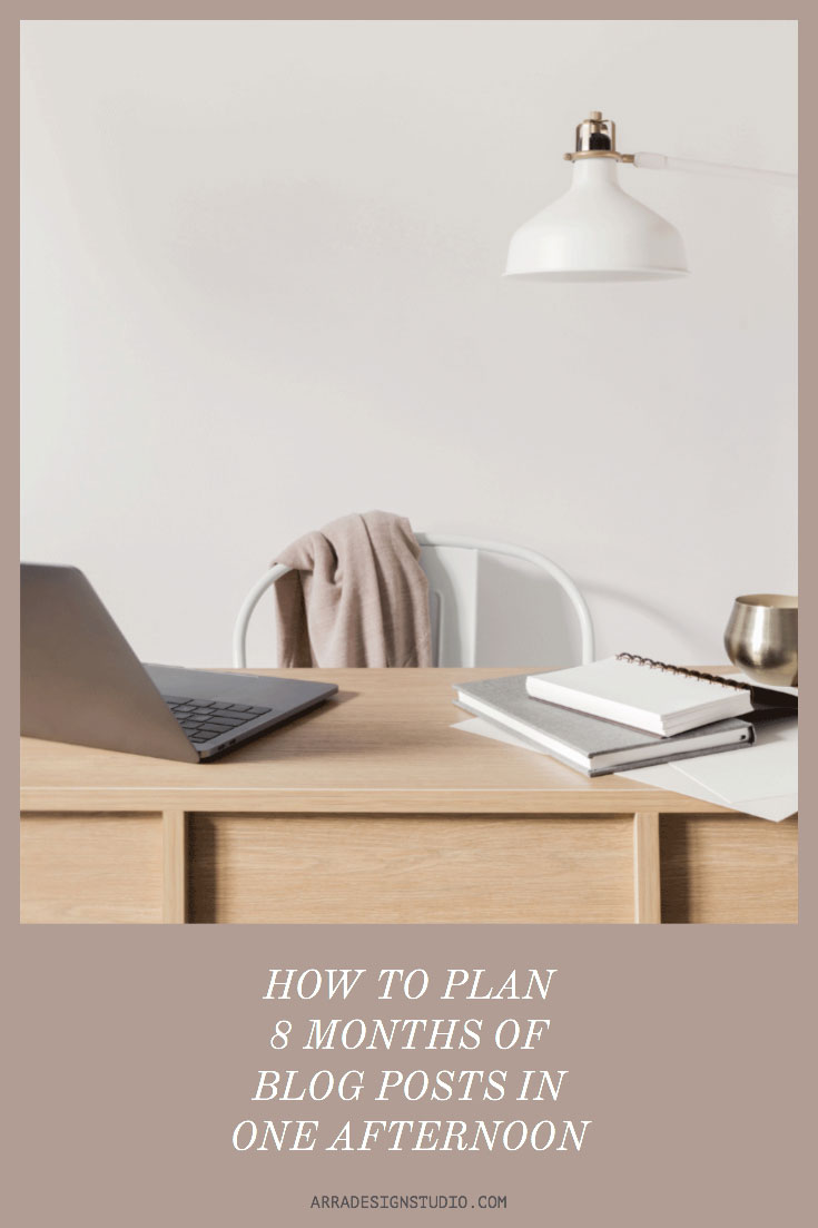 how to plan blog posts in advance with ease promotional graphics