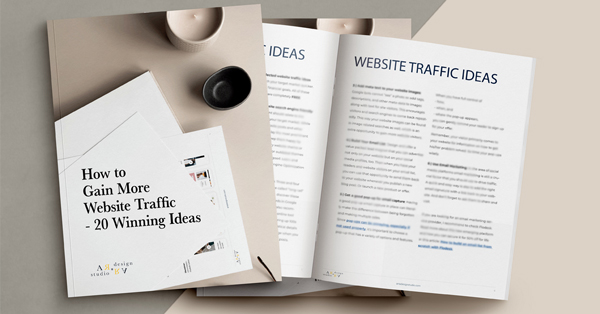 website traffic ideas ebook on desktop
