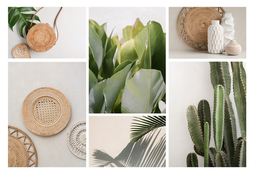 summer lifestyle photo collage with Moyo studio images