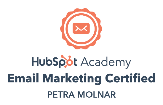 Hubspot Email Marketing Certified badge Petra-Molnar
